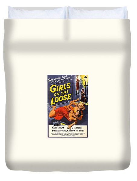 Girls On The Loose Duvet Cover