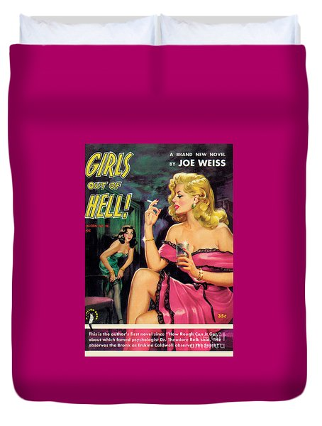 Girls Out Of Hell Duvet Cover by George Gross