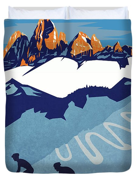 Giro D'italia Cycling Poster Duvet Cover