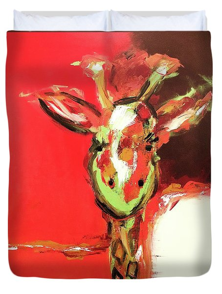Giselle The Giraffe Duvet Cover