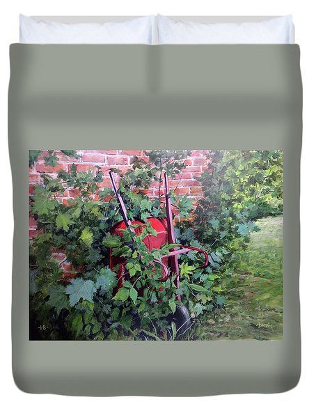 Give And Take Duvet Cover