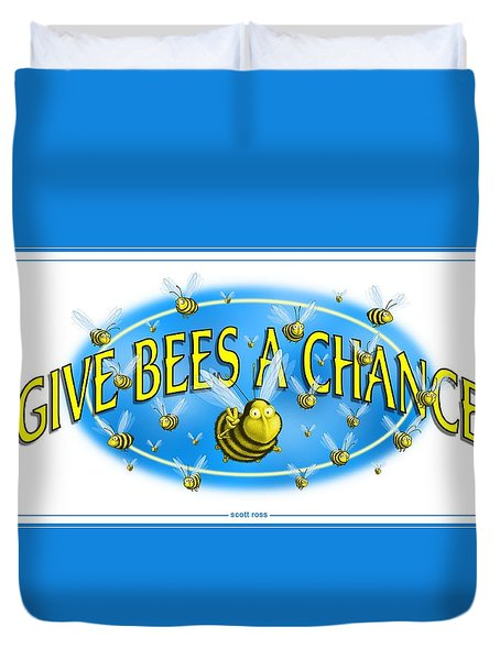 Give Bees A Chance Duvet Cover