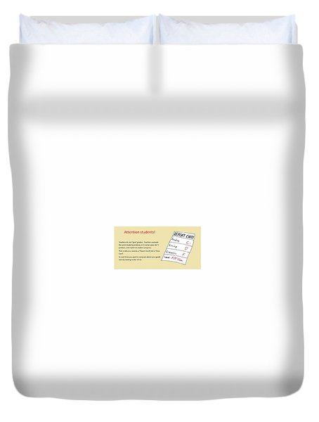 Give Card Duvet Cover by David S Reynolds