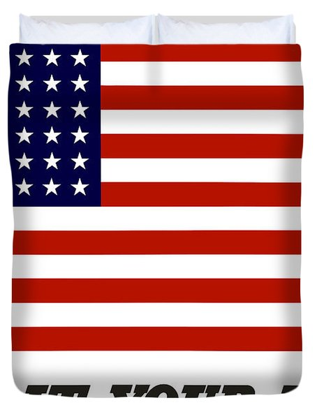 Give It Your Best American Flag Duvet Cover