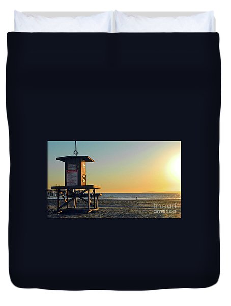 Give Me A Minute Duvet Cover by Everette McMahan jr