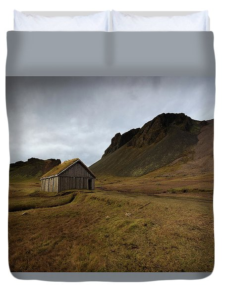 Duvet Cover featuring the photograph Give Me Shelter by Allen Biedrzycki