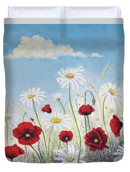 Give Me A Daisy Duvet Cover by Stanza Widen