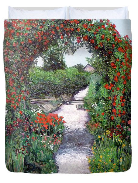 Giverney Garden Path Duvet Cover