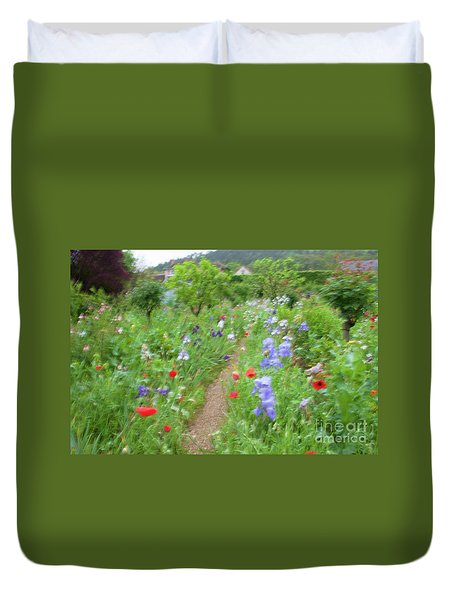 Giverny Monet's Garden Duvet Cover