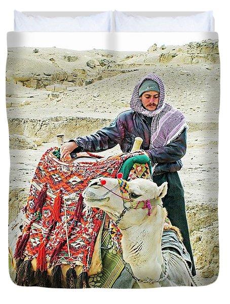 Giza Camel Taxi Duvet Cover