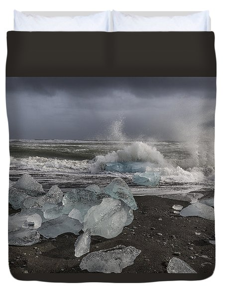 Glacial Lagoon Iceland 2 Duvet Cover