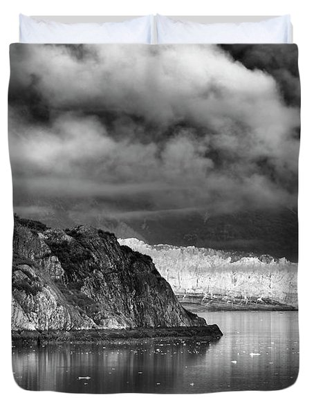 Glacier Bay Alaska In Bw Duvet Cover
