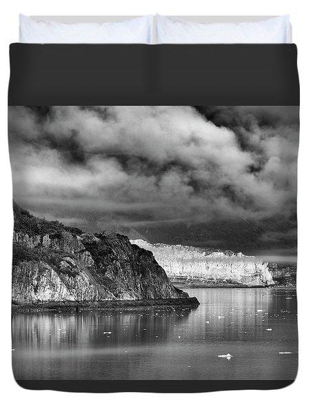 Glacier Bay Alaska In Bw Duvet Cover