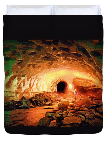 Glacier Caves Duvet Cover by Mario Carini