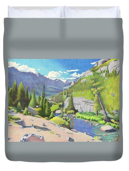 Glacier Gorge Duvet Cover