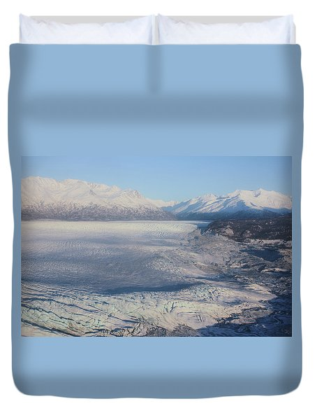 Glacier In Alaska Duvet Cover