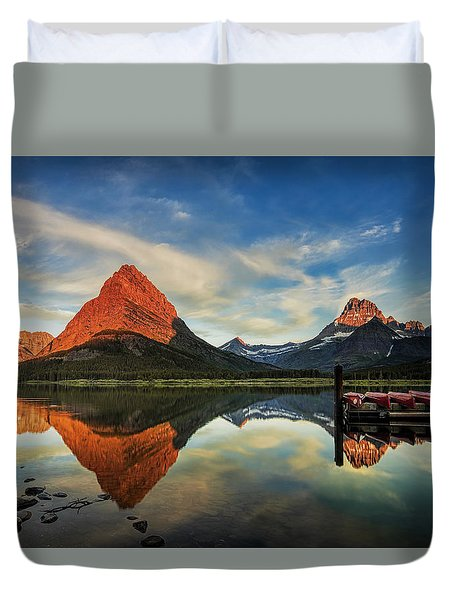 Glacier Morning Duvet Cover