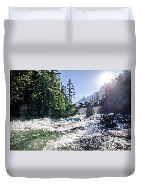 Glacier National Park Beauty Duvet Cover