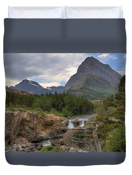 Glacier National Park Landscape Duvet Cover