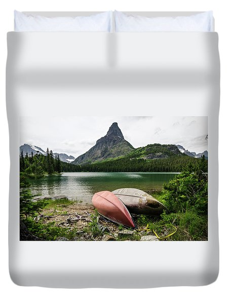 Glacier National Park Duvet Cover