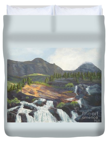Glacier National Park V Duvet Cover