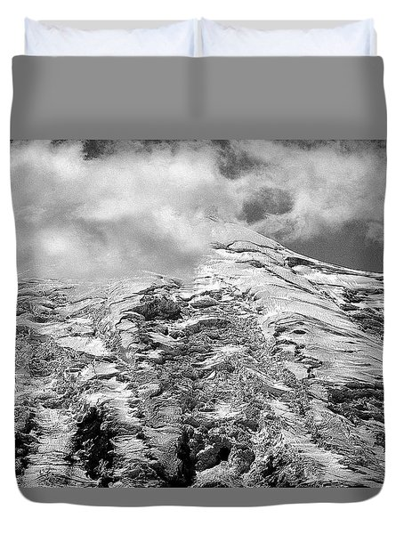 Duvet Cover featuring the photograph Glacier On Mt Rainier by Lori Seaman