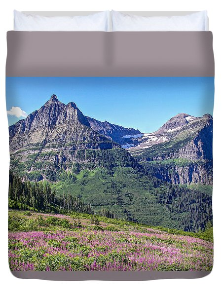Duvet Cover featuring the photograph Glacier Park Bedazzeled by Susan Crossman Buscho