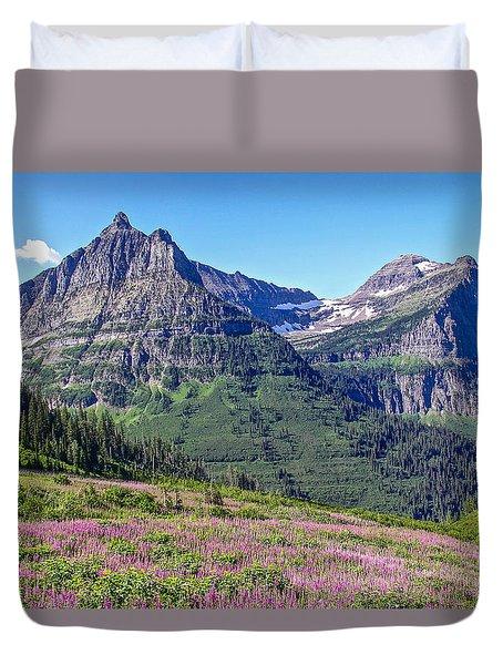 Glacier Park Bedazzeled Duvet Cover by Susan Crossman Buscho