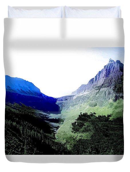 Glacier Park Simplified Duvet Cover by Susan Crossman Buscho