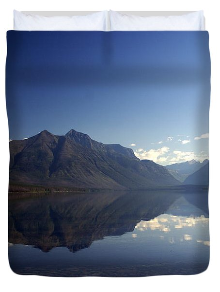 Glacier Reflections 2 Duvet Cover by Marty Koch