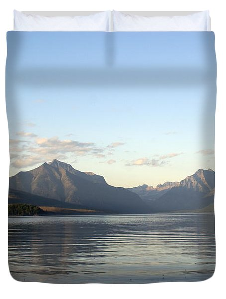 Glacier Reflections 3 Duvet Cover by Marty Koch