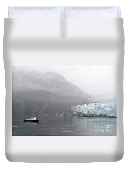 Glacier Ride Duvet Cover by Zawhaus Photography
