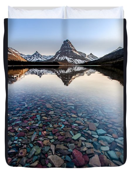 Duvet Cover featuring the photograph Glacier Skittles by Aaron Aldrich