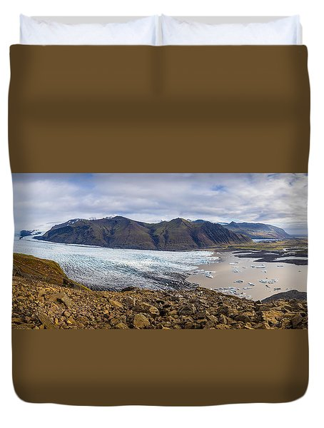 Duvet Cover featuring the photograph Glacier View by James Billings