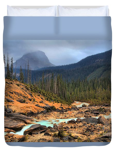 Duvet Cover featuring the photograph Glacier Waters Flowing Through Yoho National Park by Adam Jewell