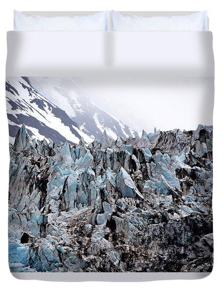 Glaciers Closeup - Alaska Duvet Cover