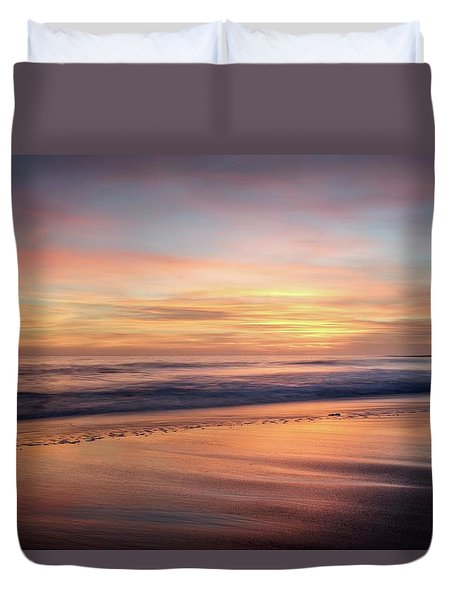 Duvet Cover featuring the photograph Glad We Stayed Longer by Quality HDR Photography