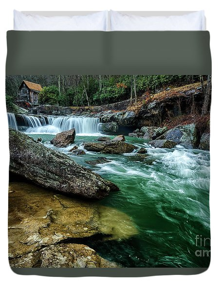 Glade Creek And Grist Mill Duvet Cover
