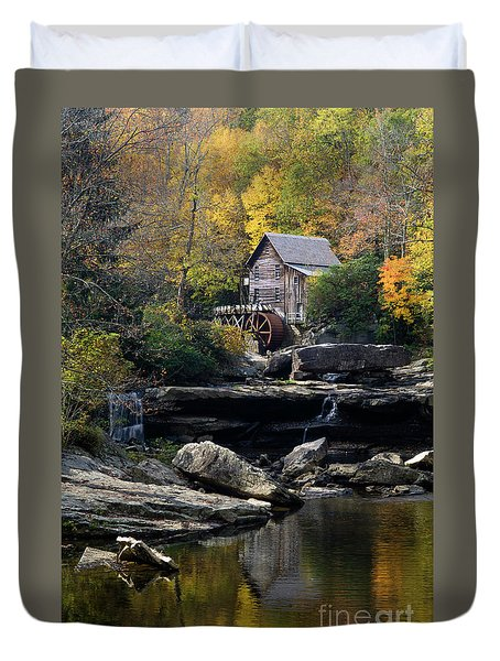 Duvet Cover featuring the photograph Glade Creek Grist Mill - D009975 by Daniel Dempster