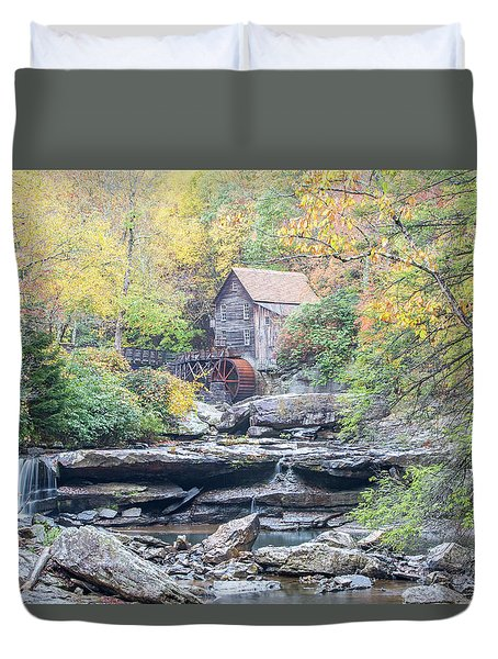 Glade Creek Grist Mill In Autumn Duvet Cover