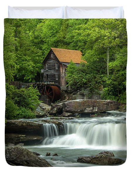 Glade Creek Grist Mill In May Duvet Cover