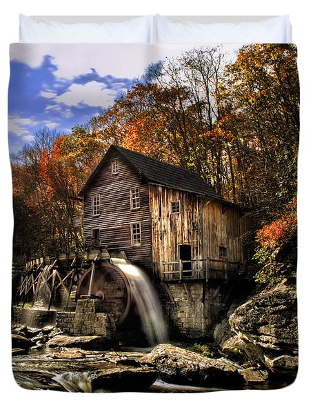 Glade Creek Grist Mill Duvet Cover by Mark Allen