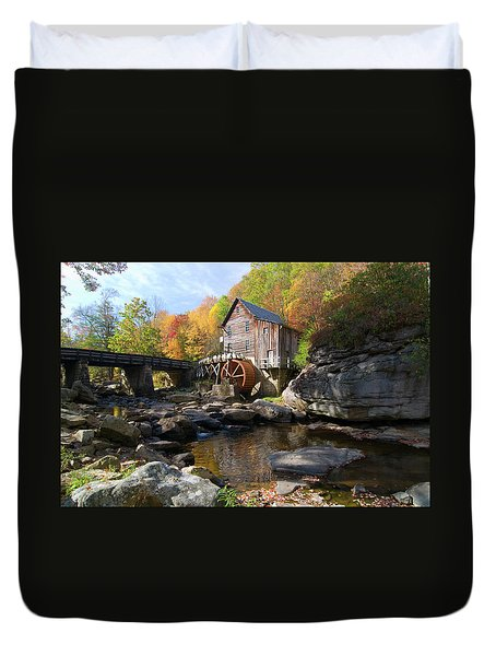 Duvet Cover featuring the photograph Glade Creek Grist Mill by Steve Stuller