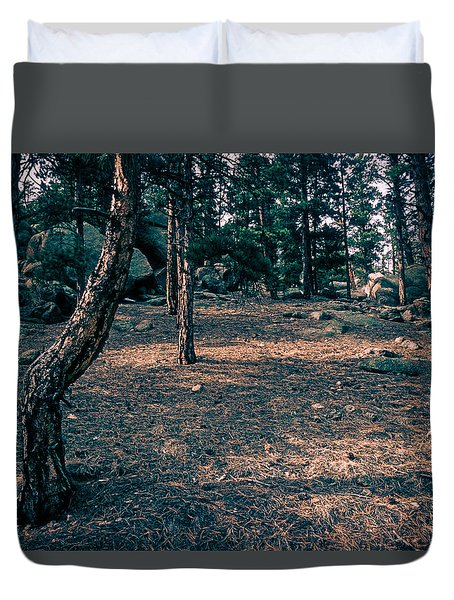 Glade In The Forest Of Colorado Duvet Cover