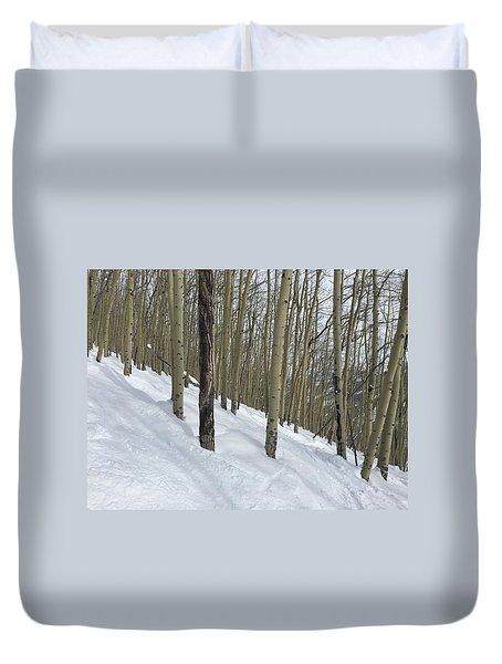 Gladed Run Duvet Cover by Christin Brodie