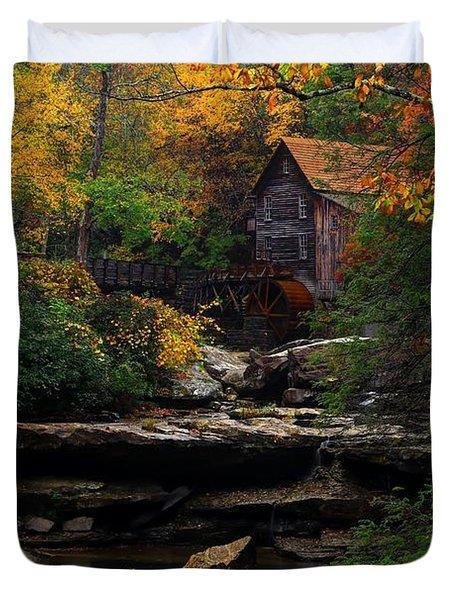 Glades Creek Grist Mill West Virginia Duvet Cover