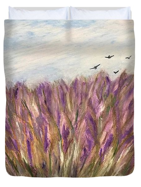 Gladiolus Field Duvet Cover