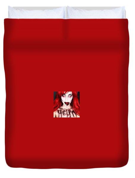 Glam Zombie Duvet Cover