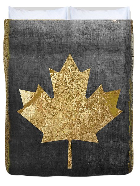 Glamour Gold Canada Flag Painting By Mindy Sommers