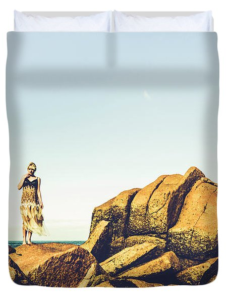 Glamour In Untouched Paradise Duvet Cover